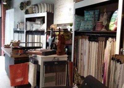 Interior en tienda de Cortinas