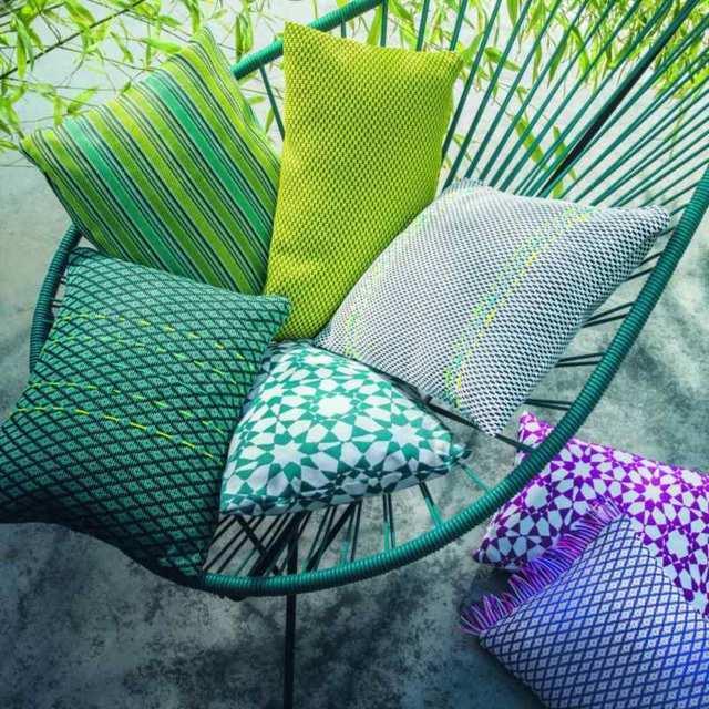 Cortinas Barcelona Cojines tapizados Colores intensos