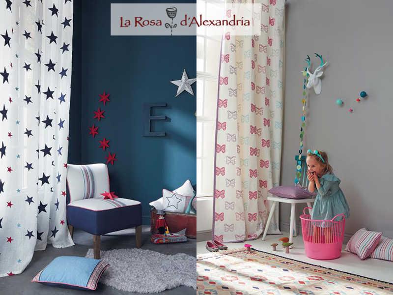 Dos fotos de habitaciones de niños con Cortinas Infantiles