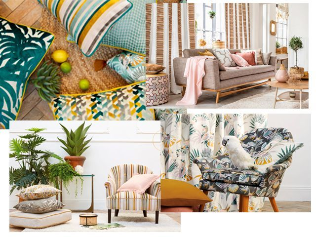 cuatro fotos de cortinas publicidad de elige tus cortinas