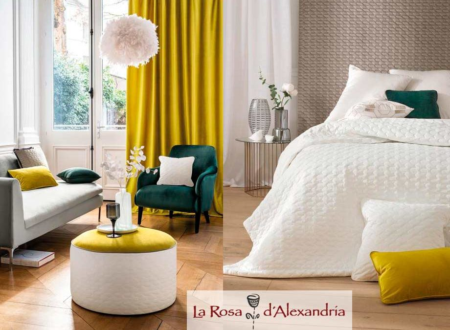 Salón y habitacion con cortinas con estilo formal y elegante